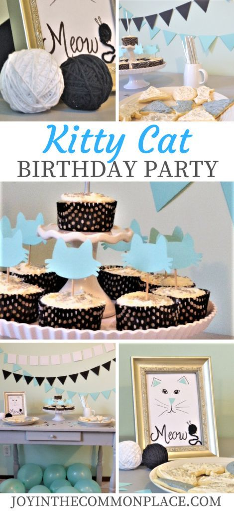 Kitty Cat Birthday Party Decor Cake And Food Ideas Kids