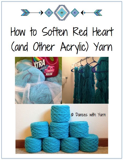 Tutorial on how to soften itchy acrylic yarns, like Red Heart Super Saver Yarn, to save money on your hobby. Very few supplies required to accomplish this!
