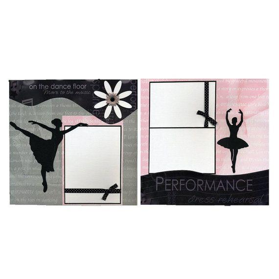 On the dance floor two 12x12 premade ballet scrapbook for Premade floor plans