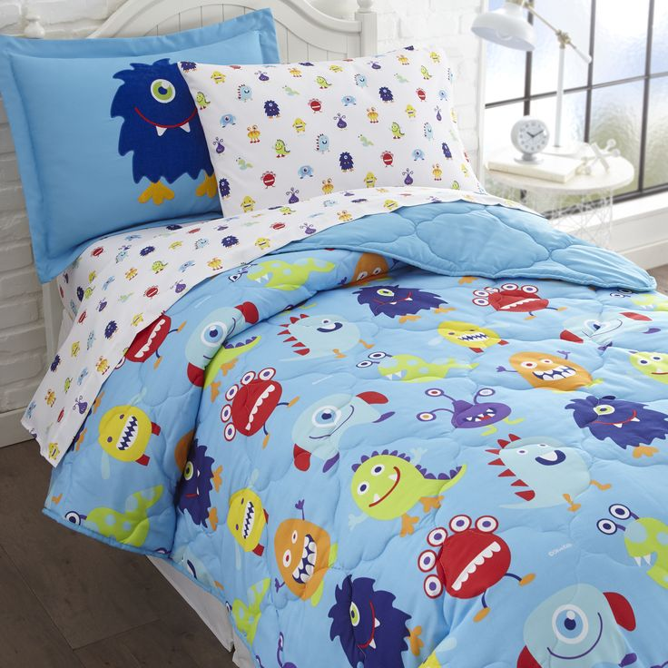 dress your little boyu0027s bed from top to bottom with olive kids monsters bed in a bag twin or full at just boys bedding