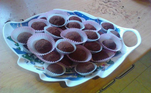 Σοκολατάκια με Αμύγδαλο και Καρύδα -Συνταγές της γιαγιάς