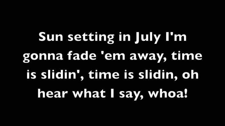 Sunset In July - 311 Lyrics (HD).  Another great 311 song.  :)