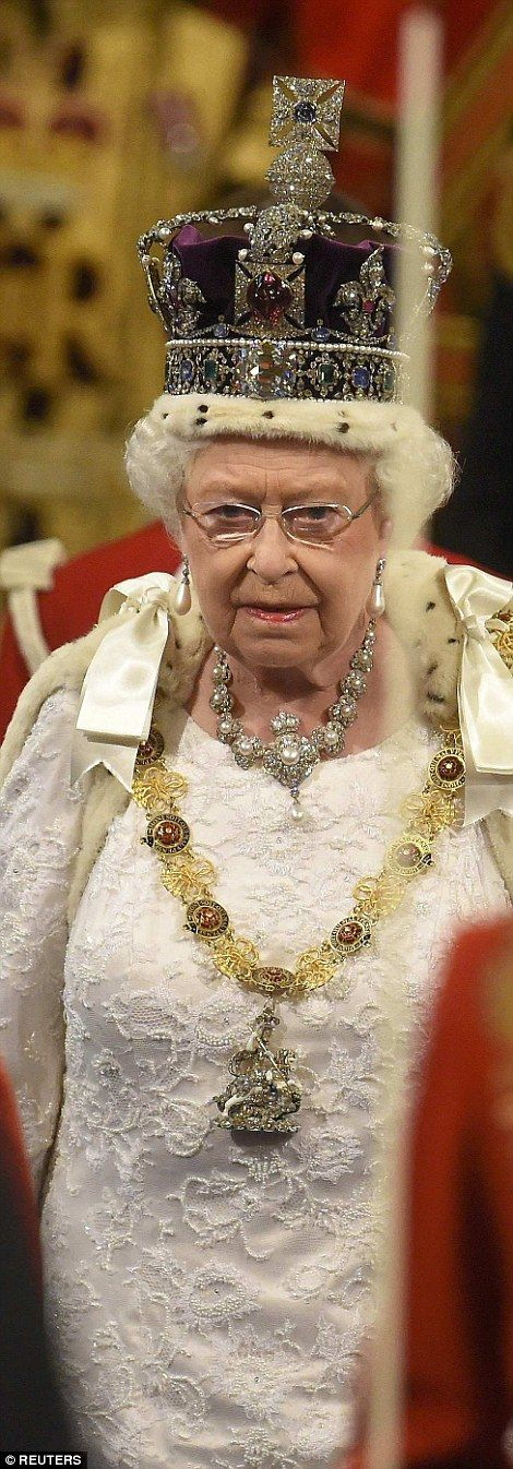 The Monarch Wore Pearl Earrings And A Necklace Belonging To