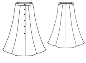 how to make a 3 panel skirt