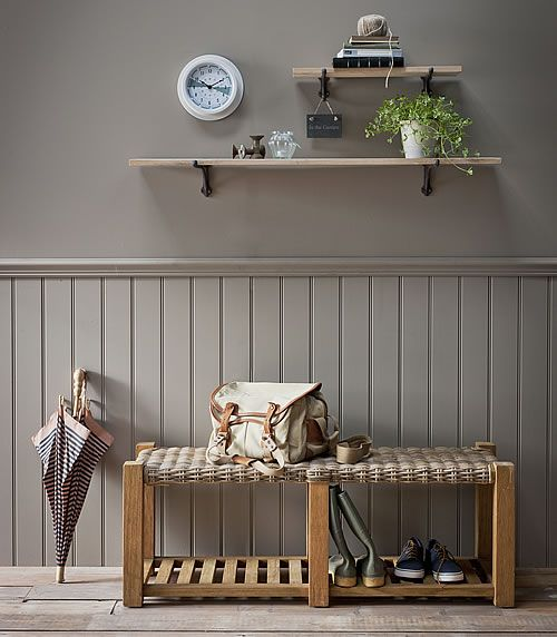 Foyer Shoe Storage Furniture : Teak hallway bench shoe shelf interior pinterest