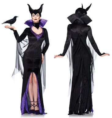 Sexy Maleficent Witch Halloween Costume - see it here - http://halloweenfunshoppe.com/scary-halloween-contact-lenses/