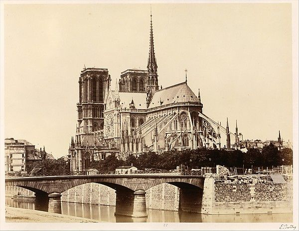old architectural photography. Édouard Baldus (French, Born Prussia, 1813\u20131889). Notre-Dame. Old ParisVintage ParisParis ParisArchitectural PhotographyMetropolitan Architectural Photography