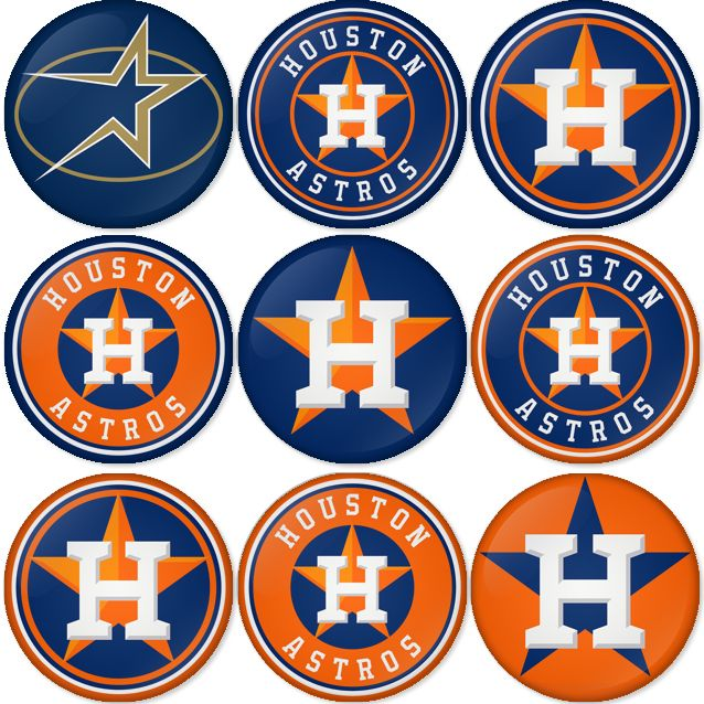 "Houston Astros MLB 1.75"" Badges Pinbacks, Mirror, Magnet"