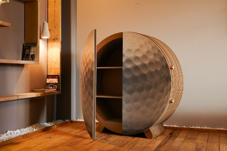 Golf 3D #cardboard cabinet from #kubedesign XXL collection #cardboard #architectures