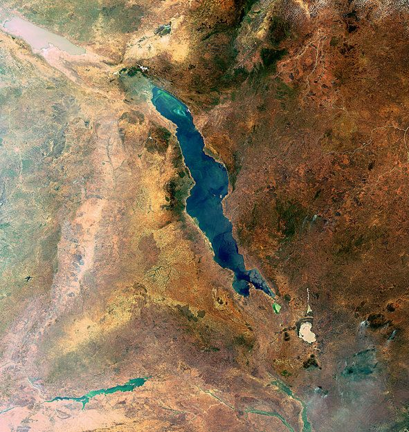 Great Rift Valley from Space. cant see this in person of course but its still pretty awesome