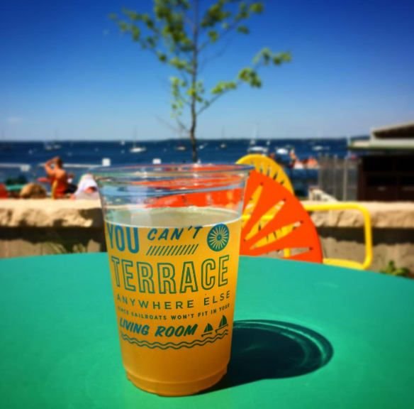 Sip a glass of Wisconsin's very own Spotted Cow Beer. You can only buy it in Wisconsin. And while you can drink it at almost every bar and restaurant in Madison, there is no better place to indulge than the Memorial Union Terrace overlooking Lake Mendota.