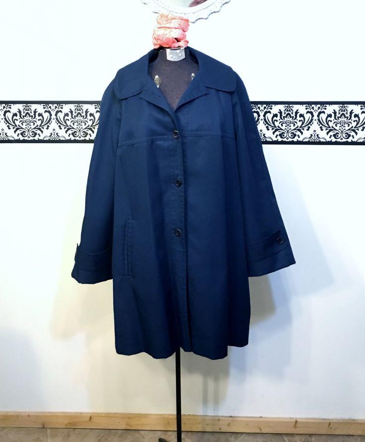 1960's Royal Blue Hipster Plus Size Fall Peacoat by Pier 4 Davis of Boston, Plus Size 20W 22W 2XL, Women's Vintage 1960's Mod Fall Jacket by RetrosaurusRex on Etsy
