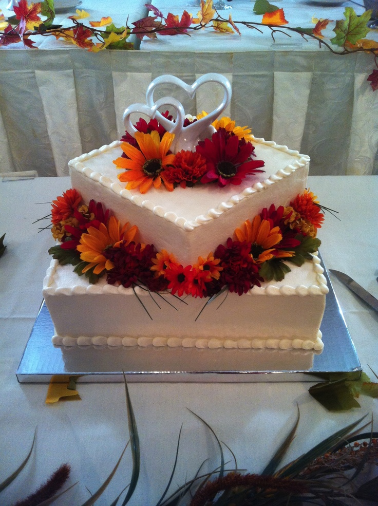 square wedding cakes with fall flowers 21 best images about cakes on sheet cakes 20419