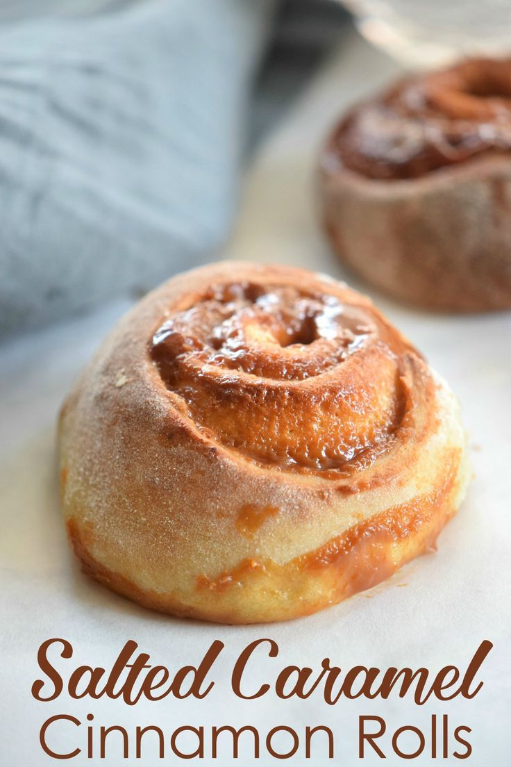 Salted Caramel Cinnamon Rolls Recipe - These make a perfect sweet and salty treat that everyone in your family will love.