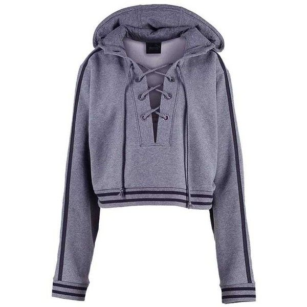 Fenty PUMA by Rihanna Sweatshirt (210 CAD) ❤ liked on Polyvore featuring tops, hoodies, sweatshirts, blue sweatshirt, blue top and puma sweatshirt