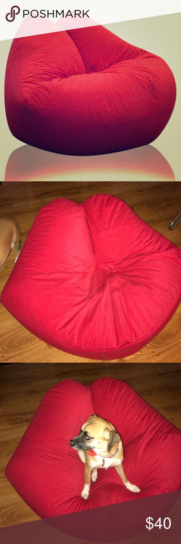 Kissy Lips Bean Bag Chair