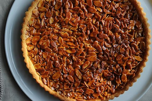 Tangerine and Almond Shortbread Tart recipe by lorigolsby via Food52
