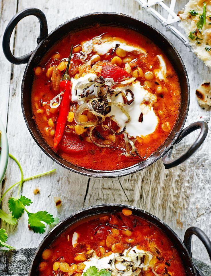 Tomato garlic dhal