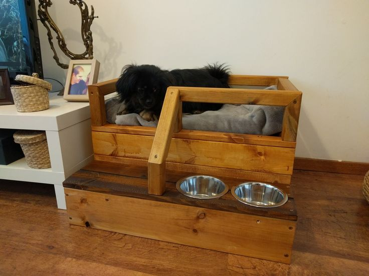had some energy and spare pinewood so i built my dog a nice bed