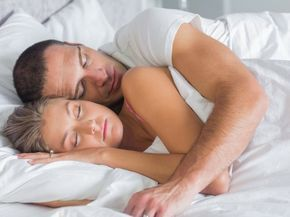 I got: Spooning! What Does Your Sleeping Position Say About You As A Couple?
