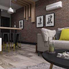 Ceren Torun Yiğit / Freelance İçmimarlık  – Stüdyo Daire Tasarımı: minimal tarz tarz Oturma Odası