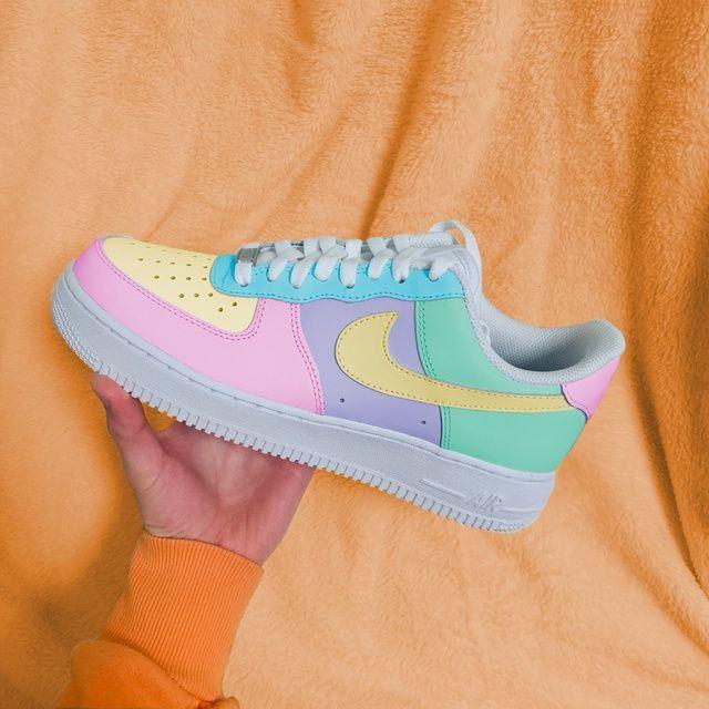 representación sinsonte superstición  Tenis Nike con colores pasteles   White nike shoes, Nike air shoes, Jordan  shoes girls