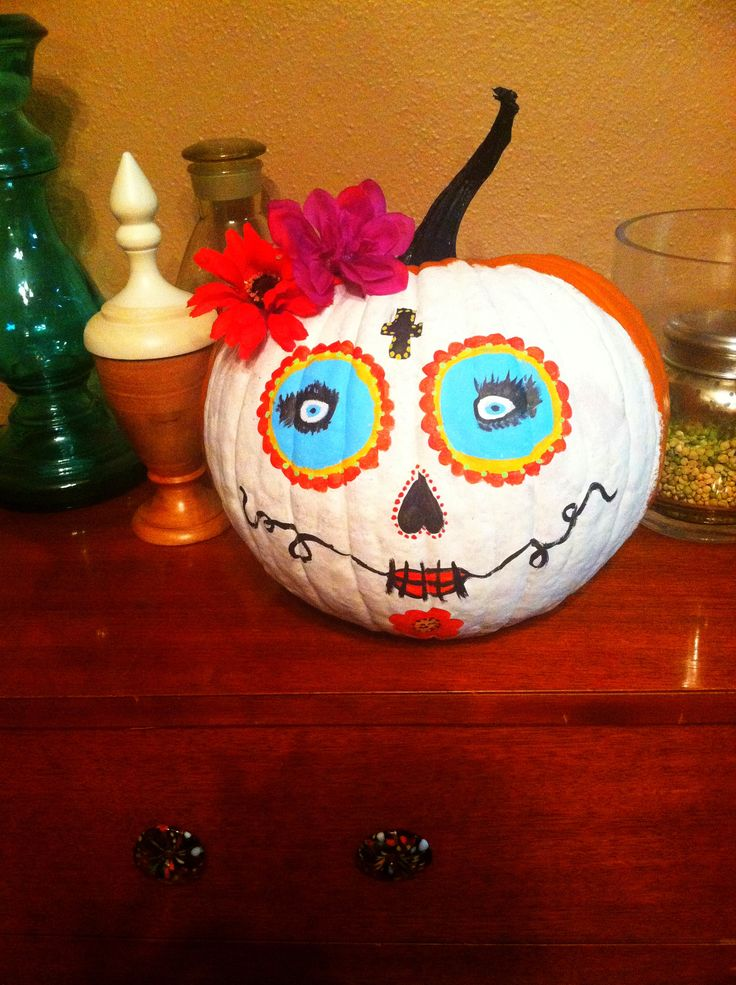 Sugar Skull Pumpkin | Spooktacular! | Pinterest