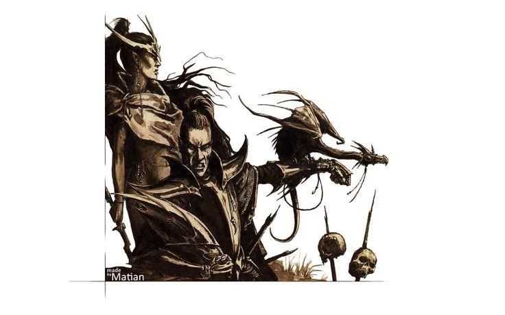 Warhammer Dark Elves Wallpaper by Matian98