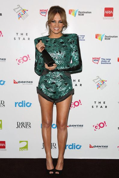 Samantha Jade - love this green long sleeve jump suit