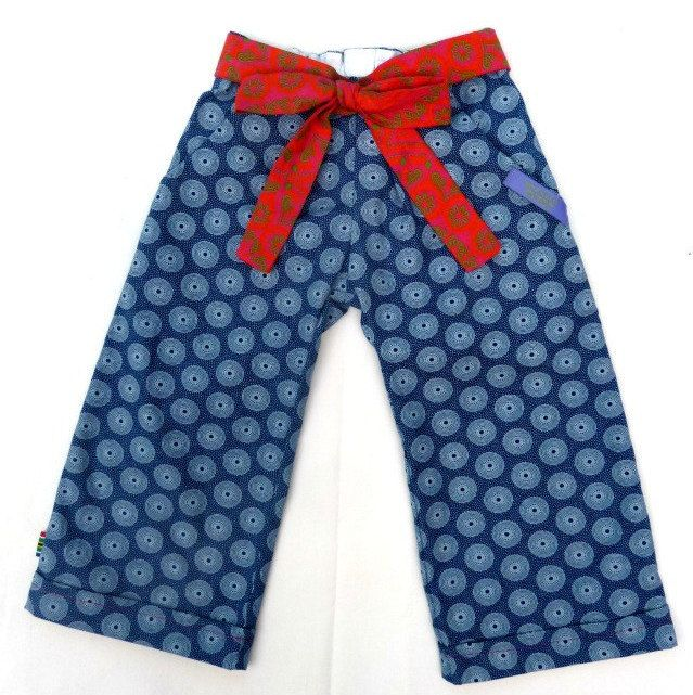 Girls Baggy trousers - 100% Cotton Shweshwe - Handmade in South Africa with Love! by MathildeAndCo on Etsy