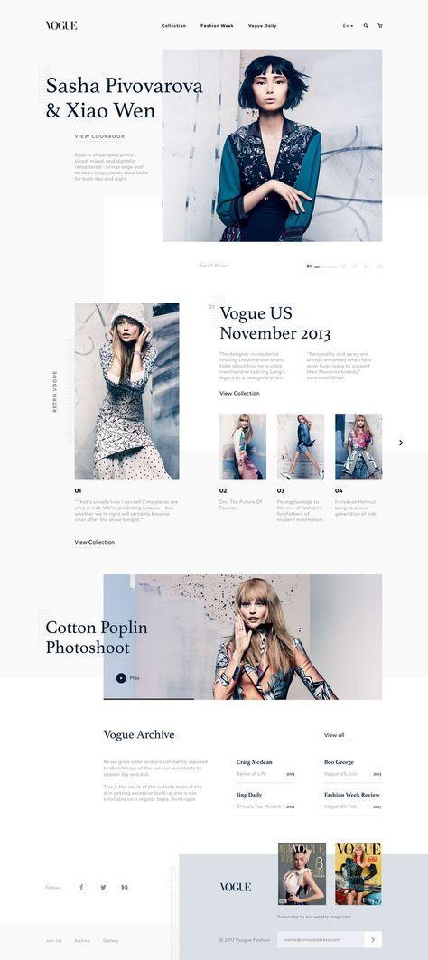 fashion homepage minimal