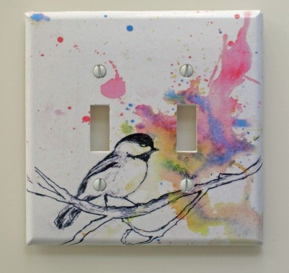 light switch cover- we have one that is oddly placed so in hoping to camouflage it as art