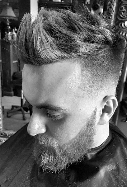 Fohawk With Skin Fade Haircut For Men