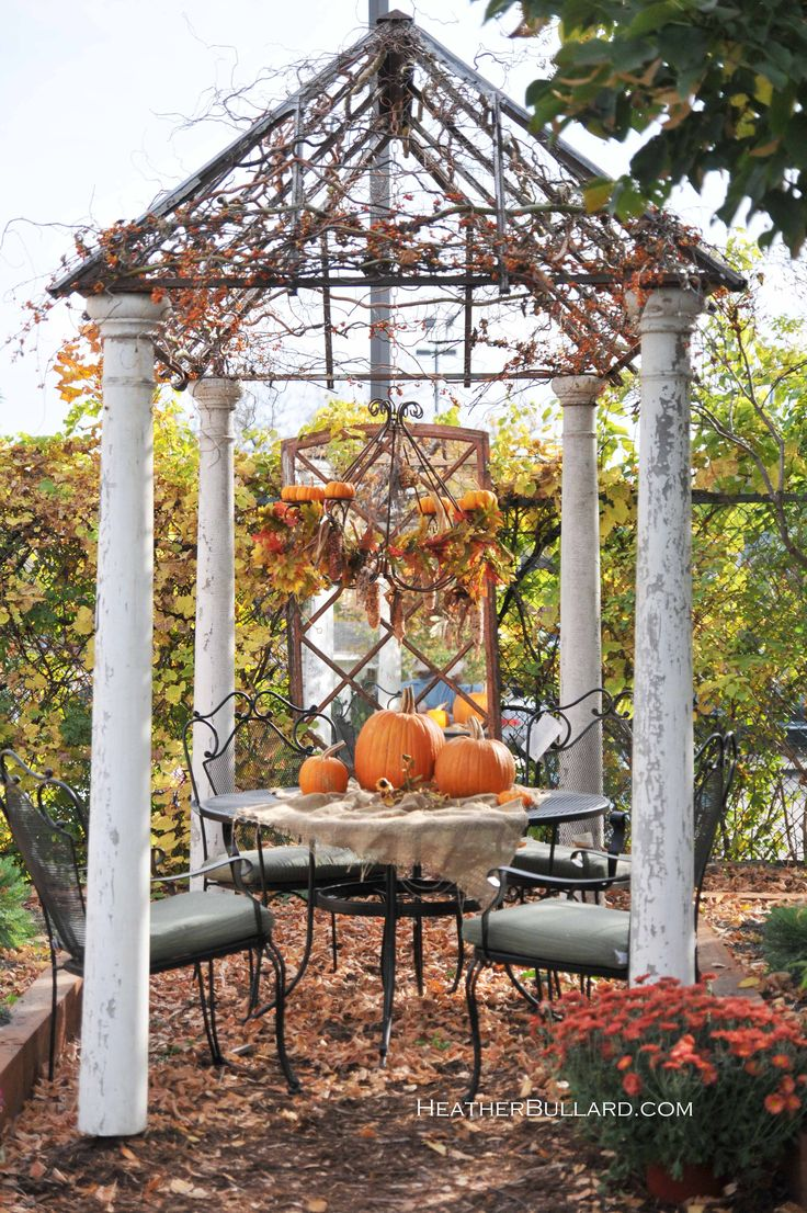 80 Best Fall Outdoor Decor Images On Pinterest Holiday
