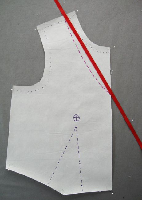 V neckline compared with straight line