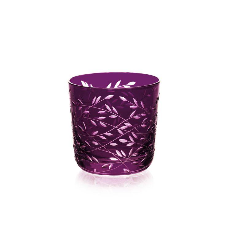 SHOT-LIQUOR | Handmade Glass Blown Shot-Liquor, Folium-Violet 1921, height: 55 mm | top diameter: 57mm | volume: 60 ml  | Bohemian Crystal | Crystal Glass | Luxurious Glass | Hand Engraved |Original Gift for Everyone | clarescoglass.com
