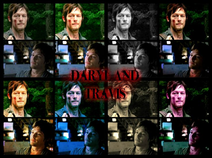 Daryl from walking dead and Travis from Gossip. What i wouldn't give to get both of them alone. ;)