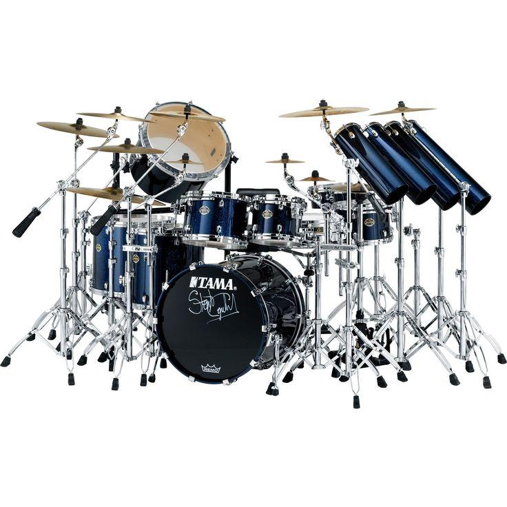 Orange double bass drum sets tama stewart copeland