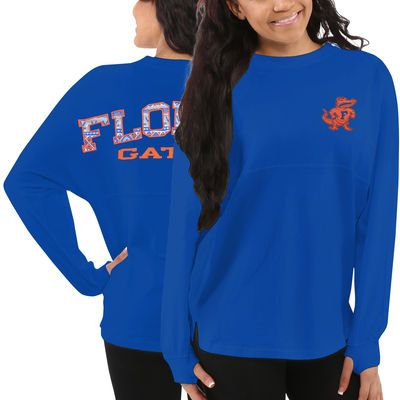 Florida Gators Women's Aztec Sweeper Long Sleeve Oversized Top - Blue