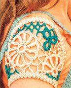 Learn how to create crochet motif sleeves! Pop-Hop Sleeves: Joining Motifs - Inside Interweave Crochet - Blogs - Crochet Me