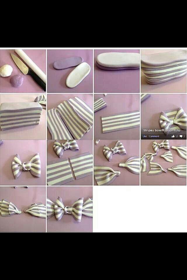 Stripes Fondant Technique