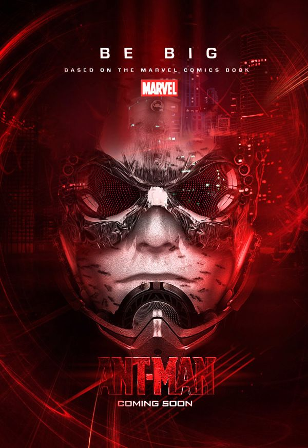 Ant man movie poster fan made antman conceptproductionfan black