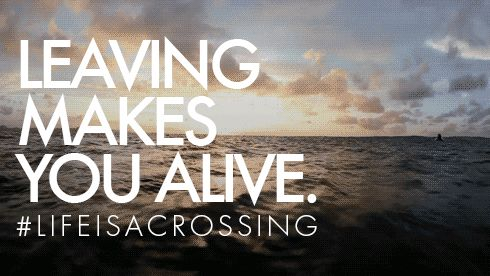Leaving makes you alive #Lifeisacrossing #NorthSails