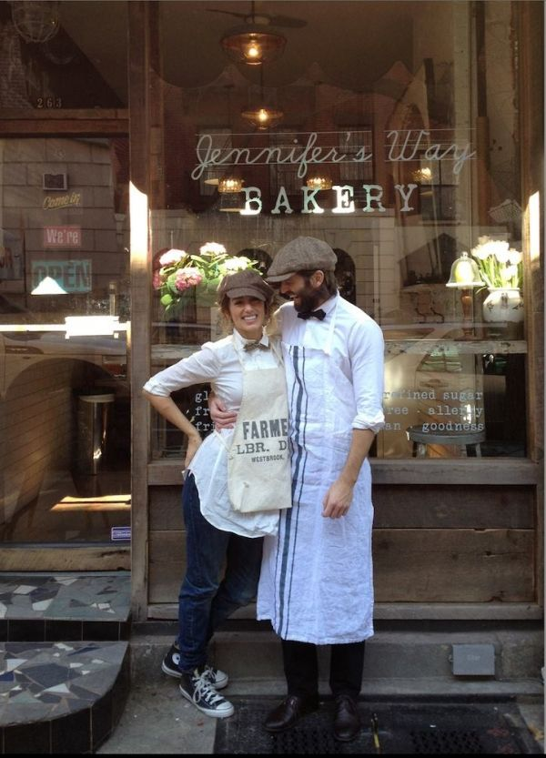 Jennifer's Way Bakery Jennifer Esposito with Louis Dowler- fiance and husband to be real soon