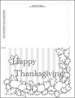 Thanksgiving coloring pages cards ~ 255 best images about Fall Coloring Pages on Pinterest