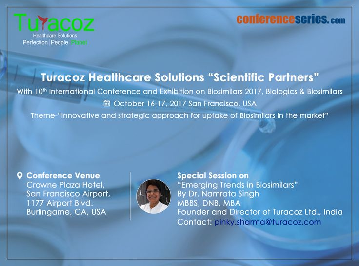 #Turacoz #ScientificPartner with #10th #InternationalConference and #Exhibition on #Biosimilars2017, #Biologics & #Biosimilars. #October2017 #SanFrancisco #USA