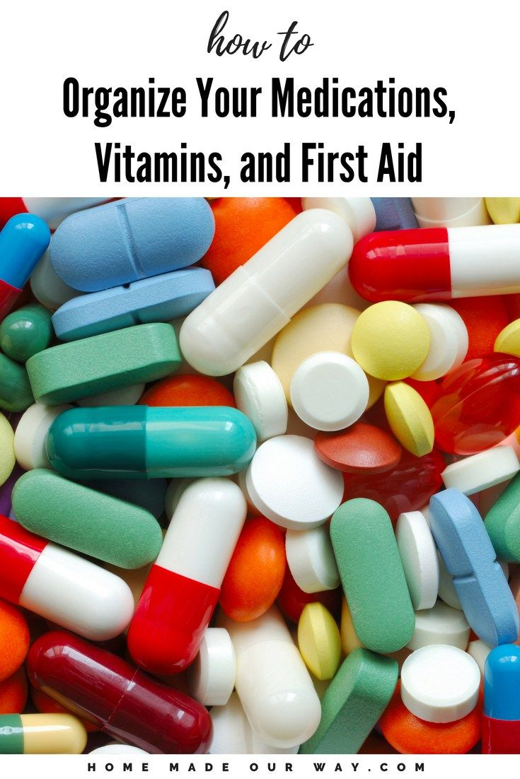 Medications, Pills, Vitamins, Supplements, and First Aid Kit