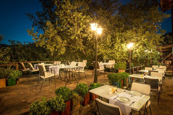 Restaurant Enagron Ecotourism Village - Axos, Rethymno, Crete, Greece http://www.enagron.gr
