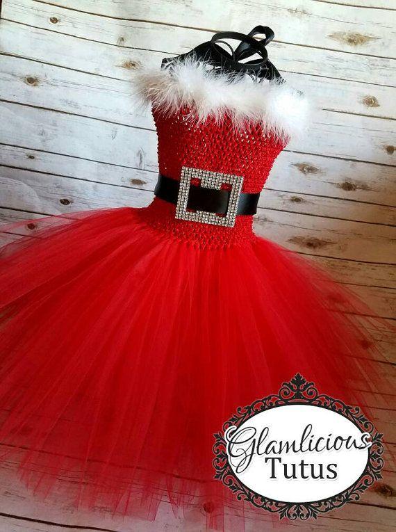 Santa Tutu Dress Vestido de Santa traje Sra. santa claus