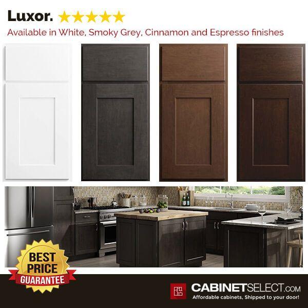 Buy Luxor White Kitchen Cabinets Rta Cabinets By Cabinetselect Kitchen Cabinets White Kitchen Cabinets Shaker Kitchen Cabinets